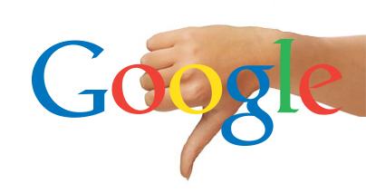 Logo de google con unlike por la mala gestión de la privacidad según la AEPD