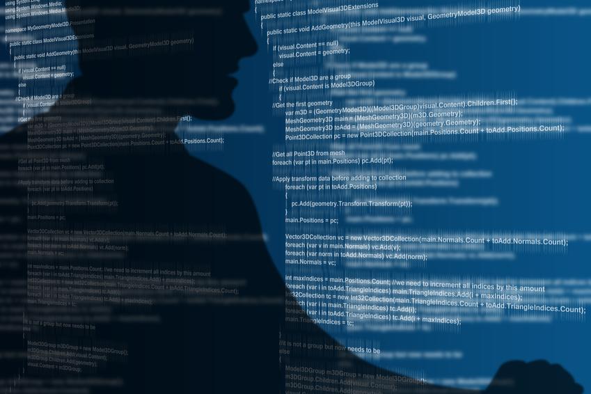 Pantalla con códigos para garantizar una correcta protección de datos - Conversia