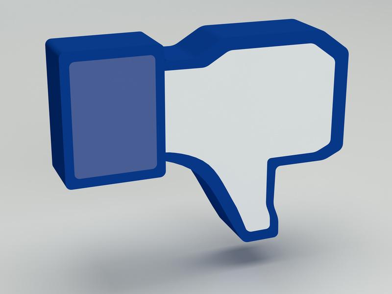 Dislike de Facebook donde se crean falsos eventos que ponen en peligro la protección de datos