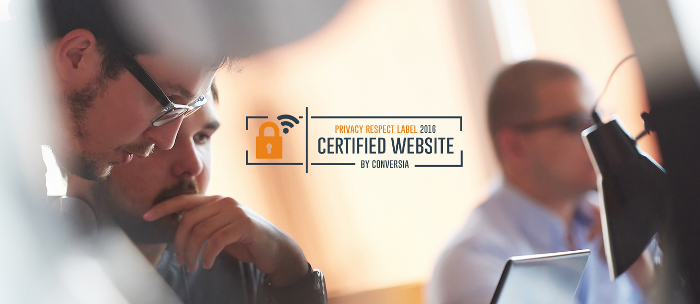 Sello de certificicación website privacy respecte label 2016 - Conversia