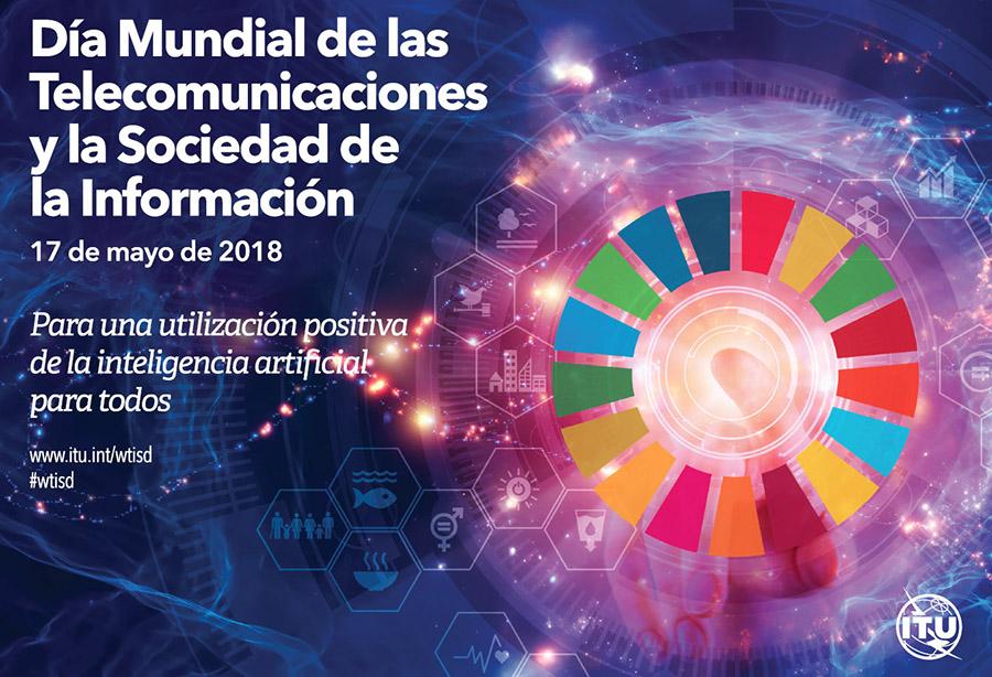 Poster del Día Mundial de las Telecomunicaciones y la Sociedad de la Información celebrado también en Conversia