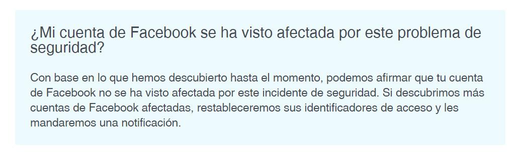 Captura pantalla Facebook no errores para ilustrar post de Conversia